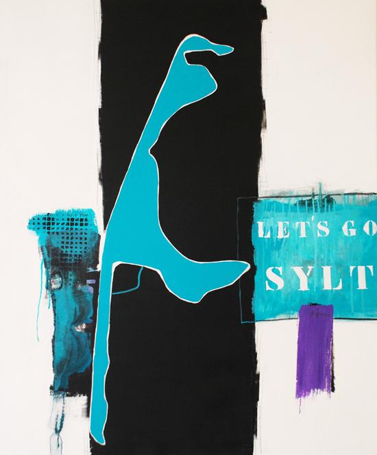 abstrakte gem lde acryl mischtechnick sylt. Black Bedroom Furniture Sets. Home Design Ideas